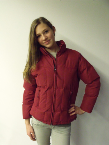 Kinder Winterjacke Goosy Mountain Horse rot S